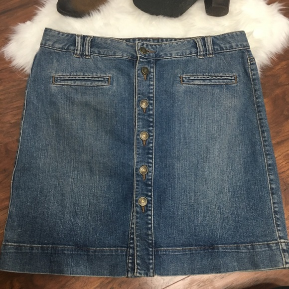 252353f686 LOFT Skirts | Ann Taylor Button Up Denim Skirt | Poshmark